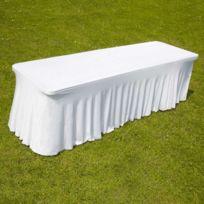 Nappe blanche achat nappe blanche pas cher rue du commerce - Nappe pour table exterieur ...