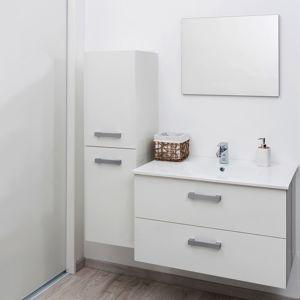 Evidence meuble suspendu 80 cm syrthe blanc vasque for Meuble vasque 80 cm pas cher