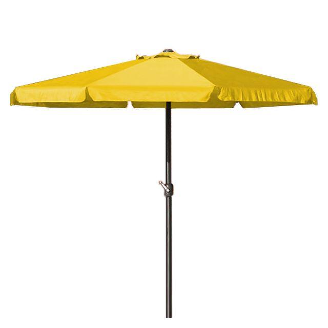 Rocambolesk - Superbe Parasol - Ø 350cm - Avec manivelle - Jardin - Terrasse Jaune Neuf