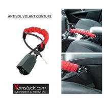 Carpoint - Antivol de volant / ceinture de securité a clé pour voiture