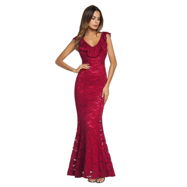 Femme Conception Robe Européen Rouge Originale Style Sexy Wewoo FzxqdtF