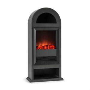 klarstein blockhouse chemin e lectrique pose libre chauffage 2000w noir pas cher achat. Black Bedroom Furniture Sets. Home Design Ideas