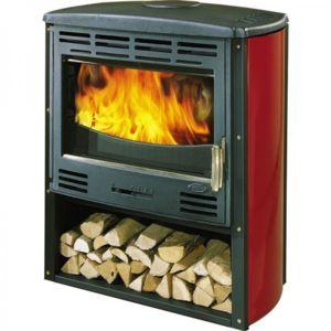 godin po le bois rubis 368102r noir et rouge. Black Bedroom Furniture Sets. Home Design Ideas
