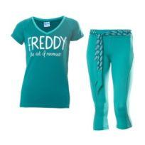 Freddy - Ensemble maillot + pantacourt Wr.UP Shaping Effect vert femme