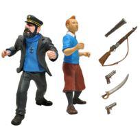 Plasti Dip - Personnages miniatures en Pvc et accessoires Haddock et Tintin