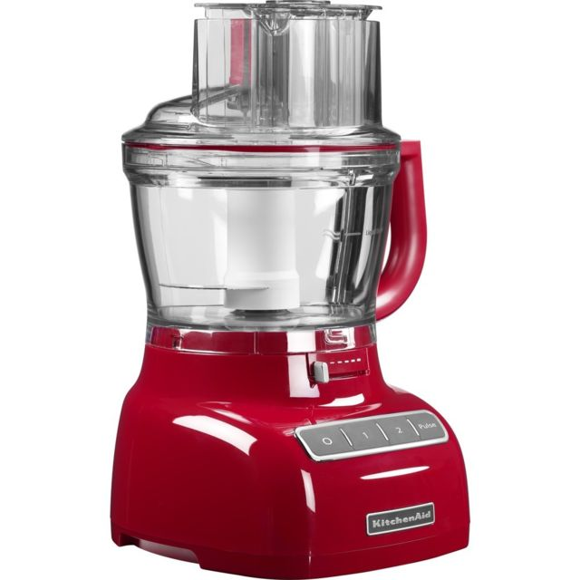 Kitchenaid robot ménager multifonction de 3,1L 300W rouge empire argent
