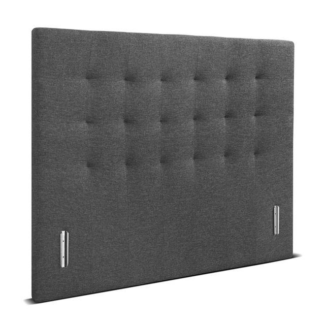 Le Matelas 365 Tête de lit 365 capitonnée tissu anthracite 170 x 120 ep 8 cm