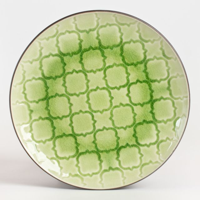 TABLE PASSION ASSIETTE DESSERT CRAKI VERT 20 CM LOT DE 6