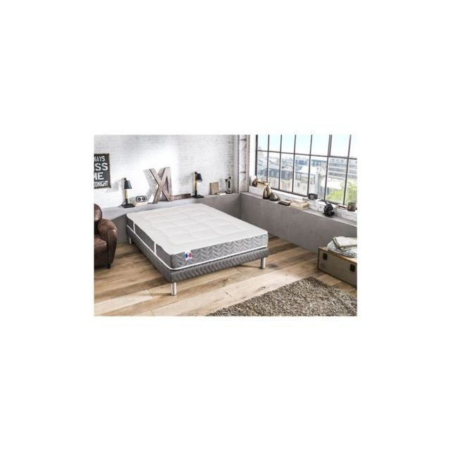 Confort Design Matelas 160x200 Cm - Latex, Memoire De Forme Et Mousse - Tres Ferme - 80kg/m3, 50kg/m3 Et 25kg/m3 - 2 Personnes
