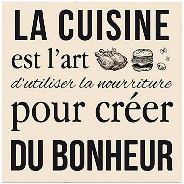 Zen Cadre Carre En Toile La Cuisine Pas Cher Achat Vente