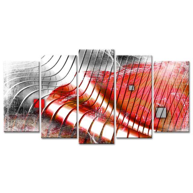 Declina Tableau Toile Deco Vagues Design Decoration Murale