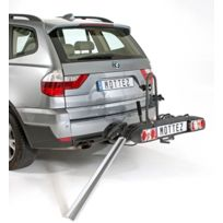 Porte-vélo plateforme, basculable sur attelage 100% monté, spécial vélos électriques 2, A023P2ELEC, fixation sur boule d'attelage