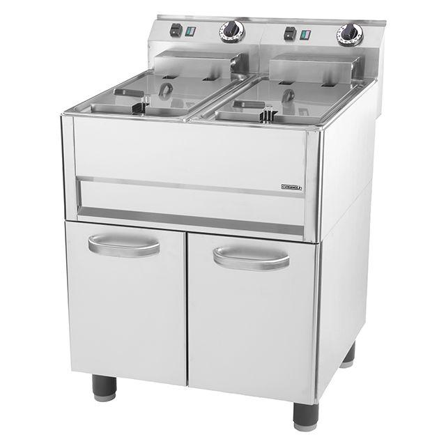 CASSELIN friteuse électrique sur pied 2x13l 19,8kw - cfp132