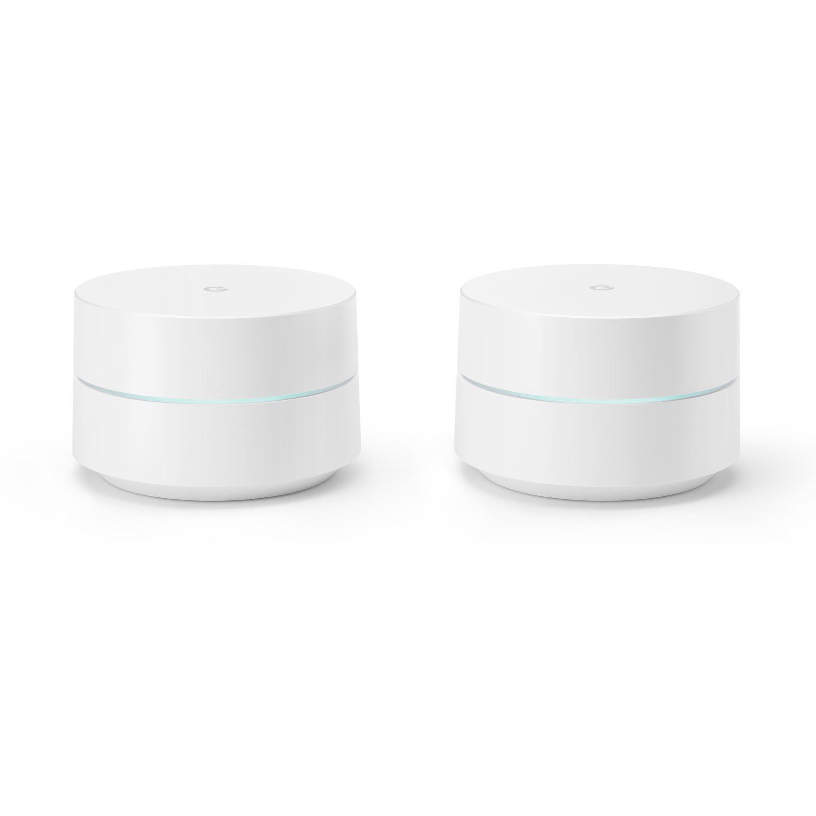 GOOGLE Pack de 2 routeurs sans fil - GA00190-FR - Blanc