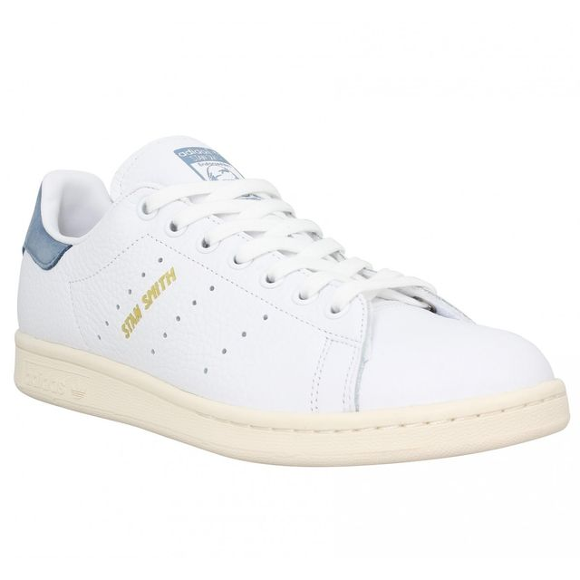 best sneakers 29f8f 8e968 ... coupon for adidas stan smith cuir homme 43 1 3 blanc bleu 36 f3272 f116d