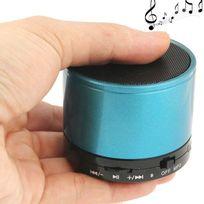 Yonis - Mini Enceinte Bluetooth universelle smartphone kit mains-libres Bleu