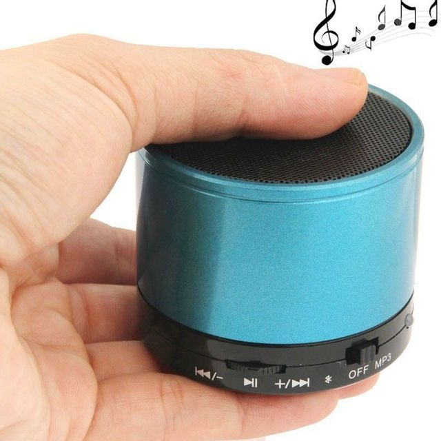 yonis mini enceinte bluetooth universelle smartphone kit mains libres bleu pas cher achat. Black Bedroom Furniture Sets. Home Design Ideas
