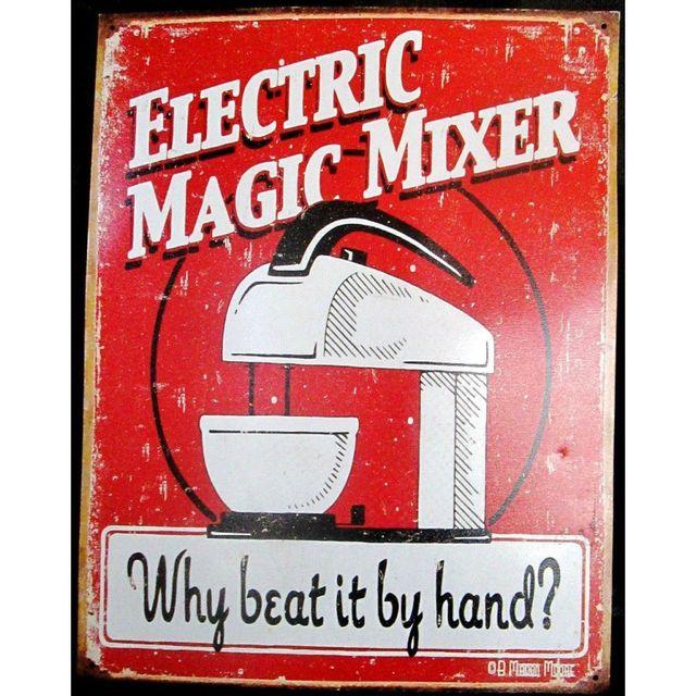 Universel Plaque electric magic mixer tole deco cuisine restaurant bar