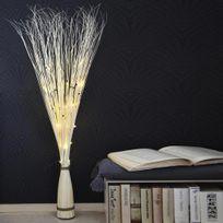 Xmas Living Glass - Willow Cone - Branches lumineuses Saule Blanc H120cm - Lampe à poser designé par