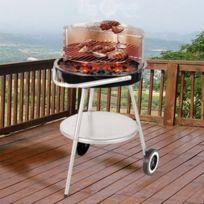 Marque Generique - Barbecue à roulettes avec grille réglable et plateau - Bbq charbon