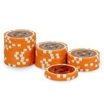 Pokeo - Rouleau 25 jetons Ultimate Poker Chips 2 orange