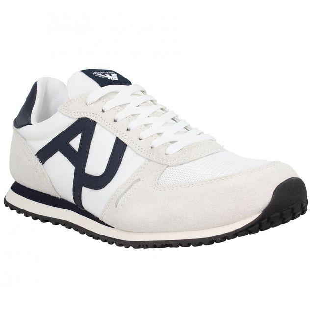 cc569b74821e Armani - Jeans 9350 Homme-40-Blanc - pas cher Achat   Vente Baskets homme -  RueDuCommerce