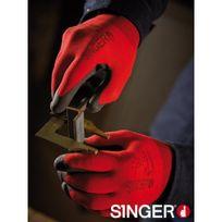 SINGER FRERES - Gants polyamide SINGER - rouge - taille 8 - NYMR15CFTN08