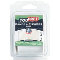 Toupret - Bande à fissure fine non adhésive Long.5m Larg.50mm