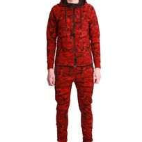 Cabaneli - Ensemble Survêtement Jogging Tech Camo Rouge Metric