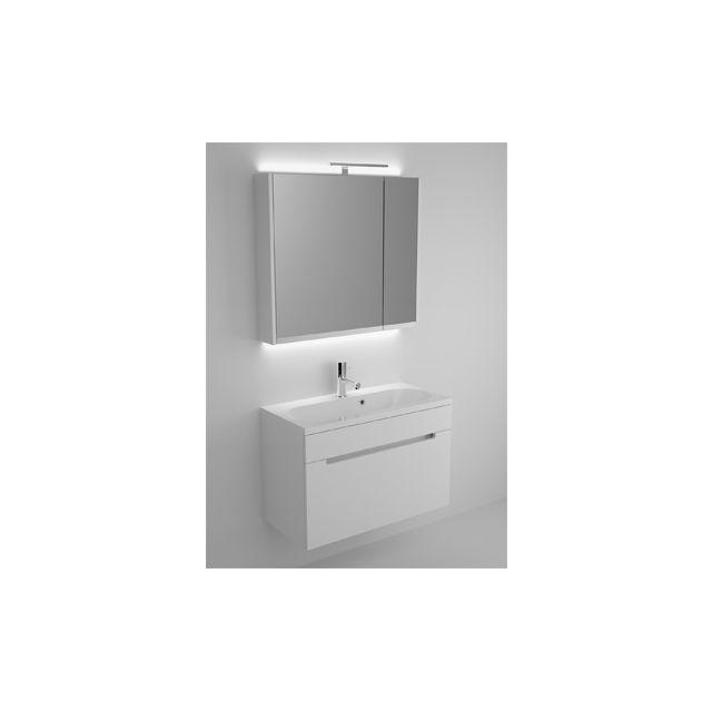 Riho Ensemble meuble & lavabo Enna Set 35 en bois laqué brillant 80x38 H 53,5 cm