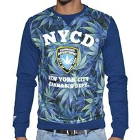 Sohype - So Hype - Sweat Shirt - Homme - Nycd - Bleu