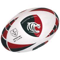 Gilbert - Ballon de rugby Leicester tigres t5 rugby Blanc 75450