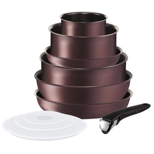 20b68a19203e46 TÉFAL - Tefal Ingenio Performance Batterie de cuisine 10 pieces L6609802 18- 20-22