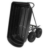 Chariot de Jardin à Benne Basculante, Chariot Transporteur remorque à Benne Charge 250Kg Max