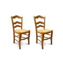 Chaise bois paille achat chaise bois paille pas cher for Chaise cuisine bois paille