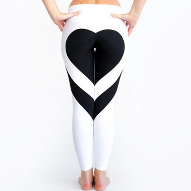 Wewoo - Pantalons et Capris Femme blanc + noir Femmes Mode Loisirs Ass  Amour Couture Mettre