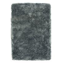 Mon Beau Tapis - Tapis gris foncé imitation fourrure extra doux 60x90cm Sauvage