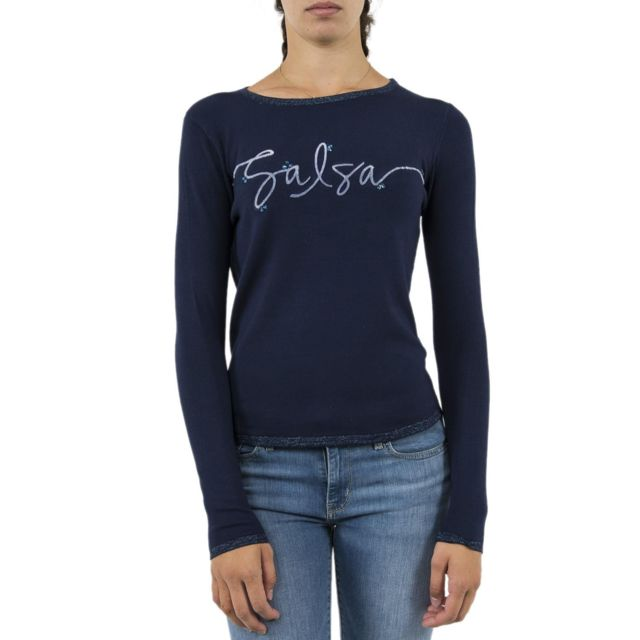28bd04761dff Salsa Jeans - Pull hiver salsa 120711 estrela bleu - pas cher Achat ...