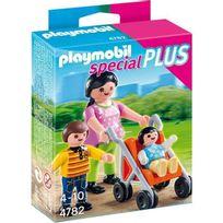 Playmobil - Maman avec enfants et poussette - Wdk