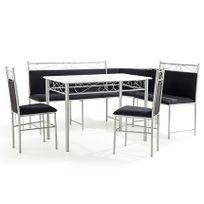 - Set Table + banc Mdf noir