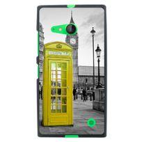 Kabiloo - Coque souple pour Nokia lumia 730 avec impression Motifs cabine téléphonique Uk jaune