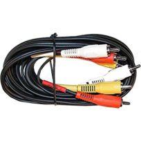 4Connexx - Câble audio-vidéo 3 Rca mâle / mâle 2 m Au-1400