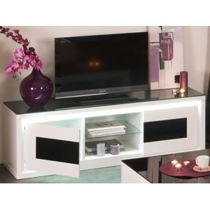 marque generique meuble tv kibo 2 portes mdf et. Black Bedroom Furniture Sets. Home Design Ideas