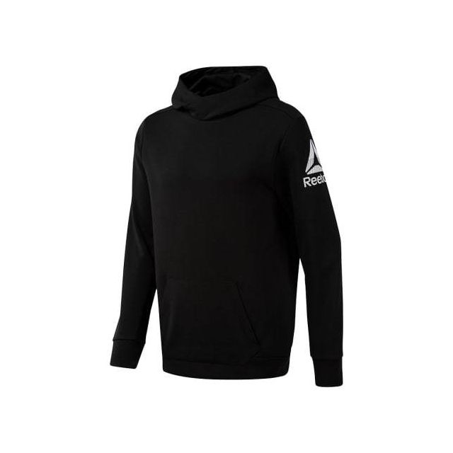Reebok Sweatshirt Workout Ready Double Knit Hoodie noir