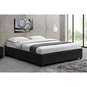 concept usine lit kennington structure de lit noir avec coffre de rangement int gr 140x190. Black Bedroom Furniture Sets. Home Design Ideas