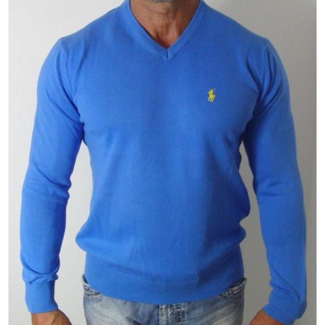 design intemporel ebe48 93883 Ralph Lauren - Pull col V Bleu - pas cher Achat / Vente Pull ...