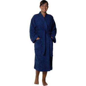 homemaison peignoir col kimono en coton couleur marine taille s pas cher achat vente. Black Bedroom Furniture Sets. Home Design Ideas