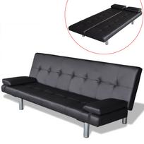 Rocambolesk - Superbe Clic-clac ajustable avec 2 oreillers coloris noir neuf