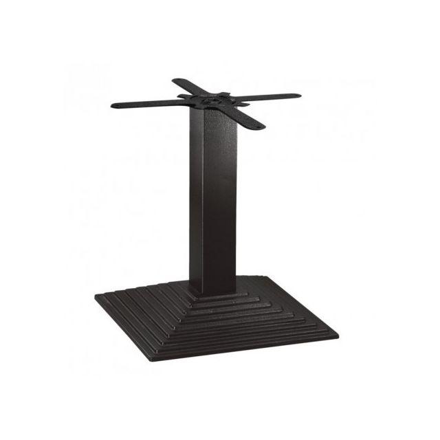 Materiel Chr Pro Pied de table basse en fonte carré effet escalier jusqu'à 800 mm Bolero