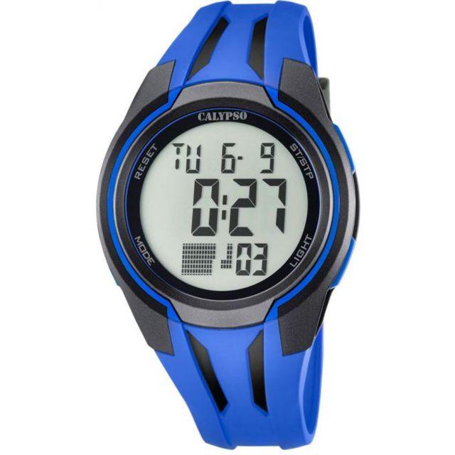 calypso montre epsilon k5703 3 montre dateur bleue homme achat vente montre digital pas. Black Bedroom Furniture Sets. Home Design Ideas
